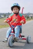 兄貴に似て、乗り物大好き。今では自転車に補助輪なしで乗ります。彼は5日の特訓で補助輪なしで乗れるようになりました♪
