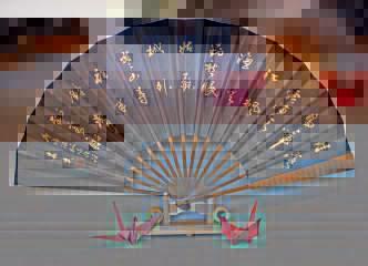 逸品です 蘇州寒山寺 張継の有名な漢詩 楓橋夜泊の扇子